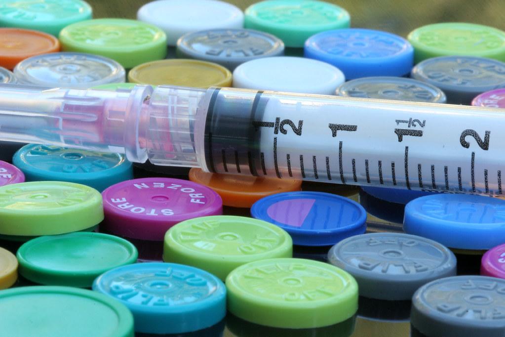 Syringe and drug vials