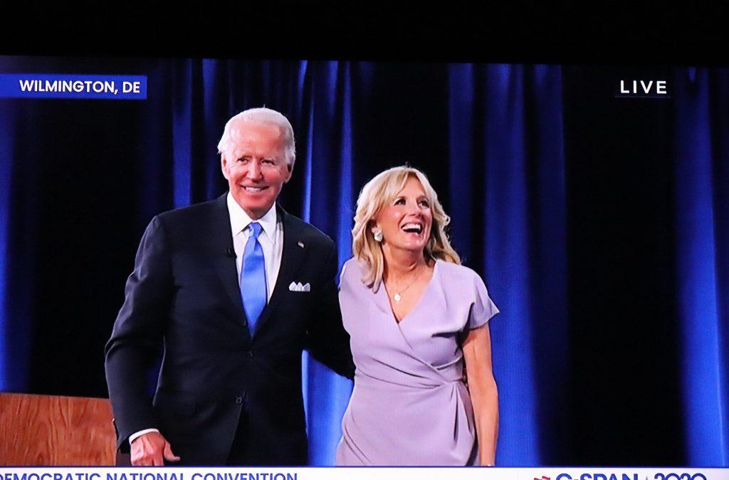 Joe and Jill Biden at the Democratic National Convention