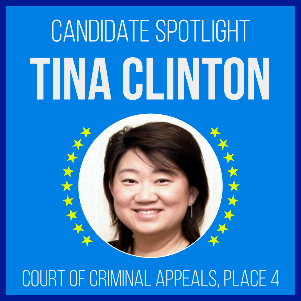 Candidate Spotlight: Tina Clinton, Court of Criminal Apppeals, Place 4