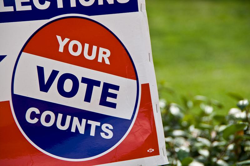 Your Vote Count sign