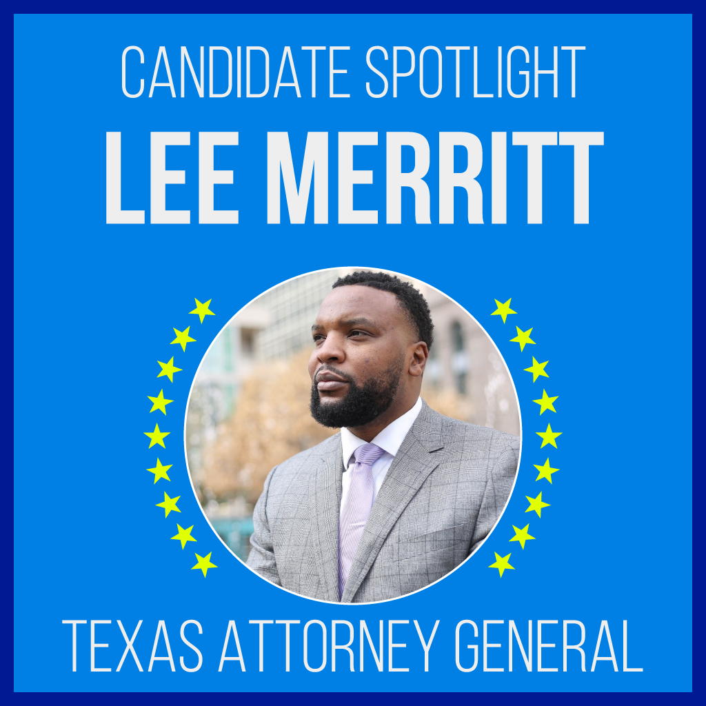 Lee Merritt is a candidate for Texas Attorney General