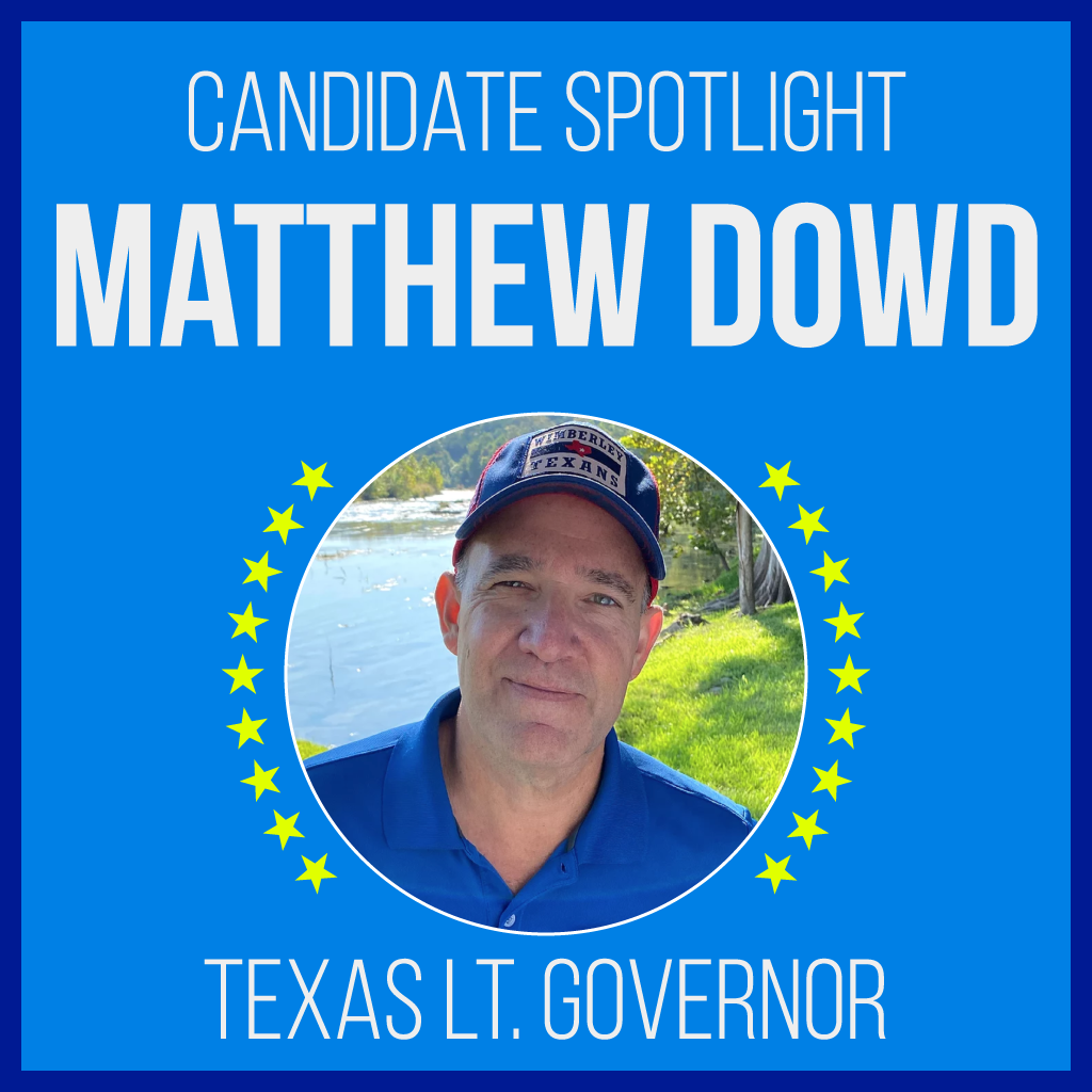 Matthew Dowd is a candidate for Texas Lt. Governor